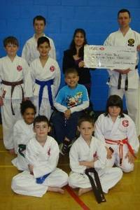 Sollomon with SAMA Karate club members